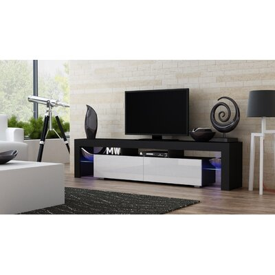 Ranallo 90 TV Stand Color: Black/White