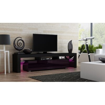 Ranallo 90 TV Stand Color: Black/Violet