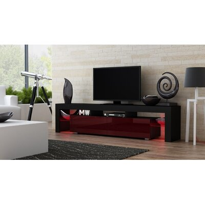 Ranallo 90 TV Stand Color: Black/Burgundy