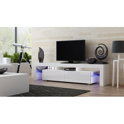 Ranallo 90 TV Stand Color: White/White