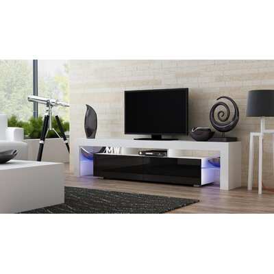 Ranallo 90 TV Stand Color: White/Black