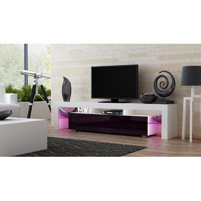 Ranallo 90 TV Stand Color: White/Violet