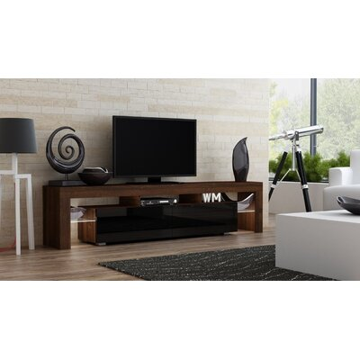 Ranallo 90 TV Stand Color: Walnut/Black