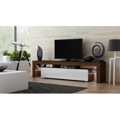 Ranallo 90 TV Stand Color: Walnut/White