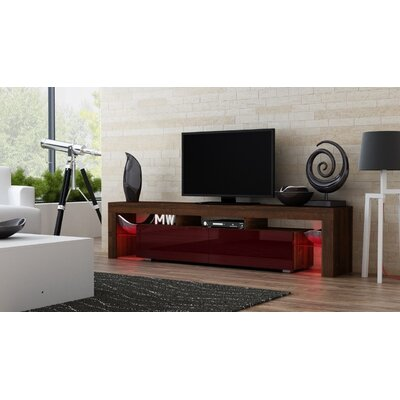 Ranallo 90 TV Stand Color: Walnut/Burgundy