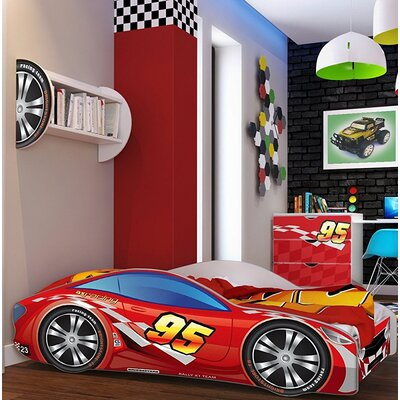 Grier Kid Race Twin Car Bed