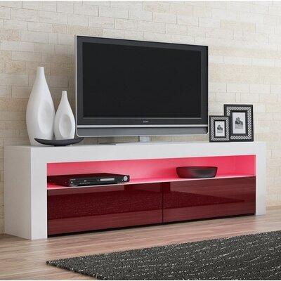 Ranallo Contemporary 65 TV Stand Color: White/Burgundy