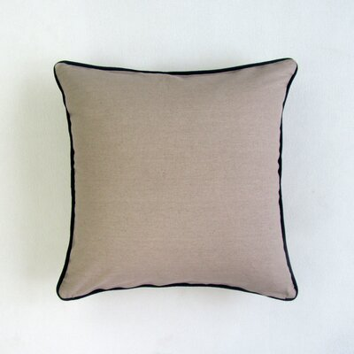 Galyon Embroidered Square Decorative Cotton Throw Pillow
