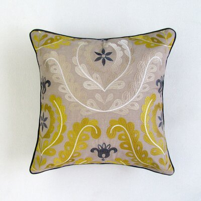 Centralia Square Decorative 100% Cotton Pillow Cover