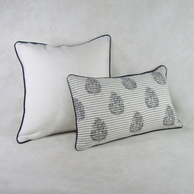 Pinkerton Square Decorative 100% Cotton Pillow Cover