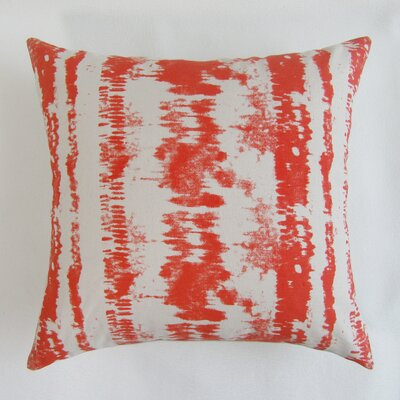 Baney Square Decorative 100% Cotton Pillow Cover Color: Red