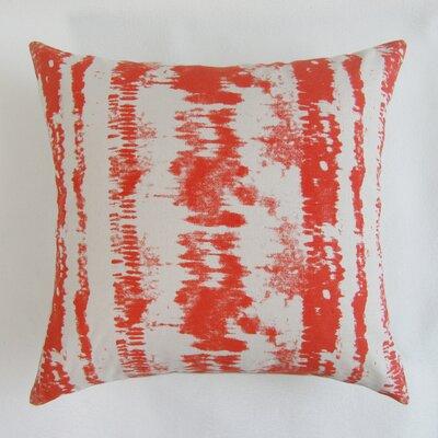 Baney Square Decorative 100% Cotton Pillow Cover Color: Red