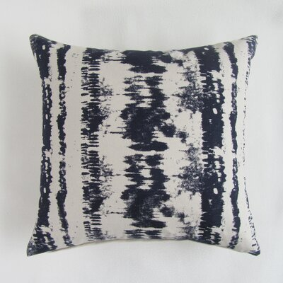 Baney Square Decorative 100% Cotton Pillow Cover Color: Navy