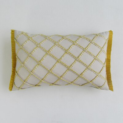 Amall Boudoir Decorative 100% Cotton Pillow Cover Color: Mustard