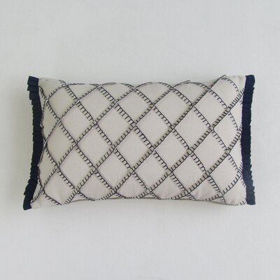 Amall Boudoir Decorative 100% Cotton Pillow Cover Color: Navy