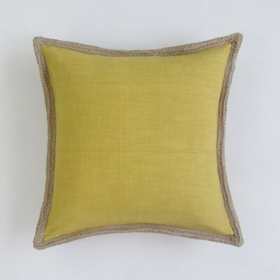 Amd Square Decorative 100% Cotton Pillow Cover Color: Mustard