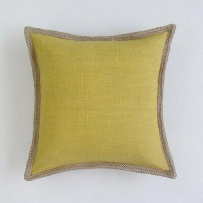 Amd Square Decorative 100% Cotton Pillow Cover Color: Mustard