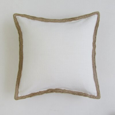 Amd Square Decorative 100% Cotton Pillow Cover Color: Ivory