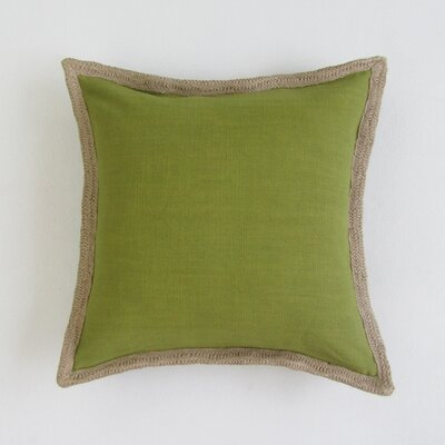 Amd Square Decorative 100% Cotton Pillow Cover Color: Olive