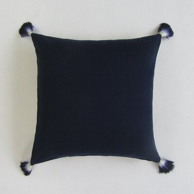 Scheller Square Solid Decorative 100% Cotton Pillow Cover Color: Navy