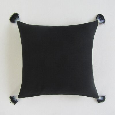 Scheller Square Solid Decorative 100% Cotton Pillow Cover Color: Black