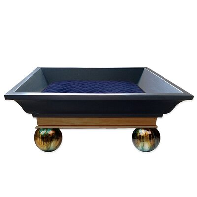 Luxurious Kitty Royal Carriage Bed Color: Embossed Chevron Navy