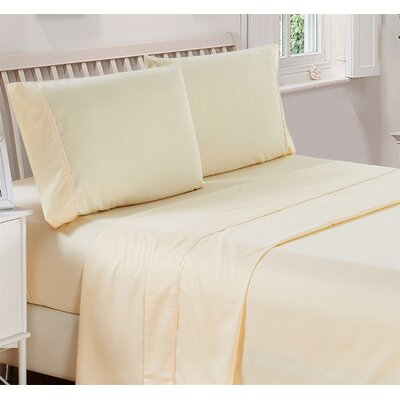Harpe Superior Checkered Microfiber 4 Piece Sheet Set Size: Full, Color: Beige