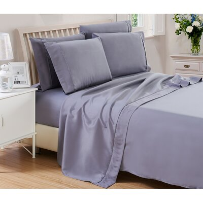 Harvel Solid Microfiber 4 Piece Sheet Set Size: Queen, Color: Dark Gray