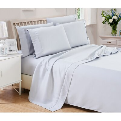 Harvel Solid Microfiber 4 Piece Sheet Set Size: King, Color: Light Gray