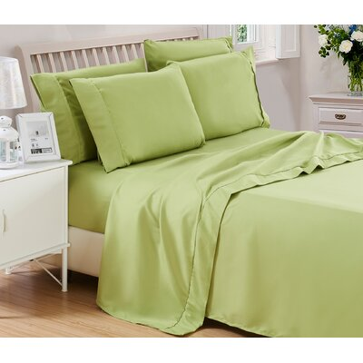 Harvel Solid Microfiber 4 Piece Sheet Set Size: Queen, Color: Green
