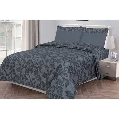 Gottsche Microfiber 6 Piece Sheet Set Size: Queen, Color: Gray