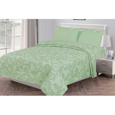 Gottsche Microfiber 6 Piece Sheet Set Size: Full, Color: Sage