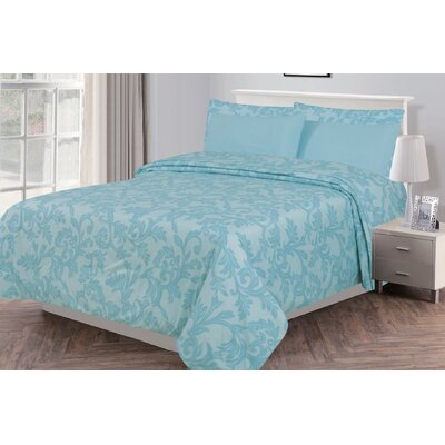 Gottsche Microfiber 6 Piece Sheet Set Size: King, Color: Spa Blue