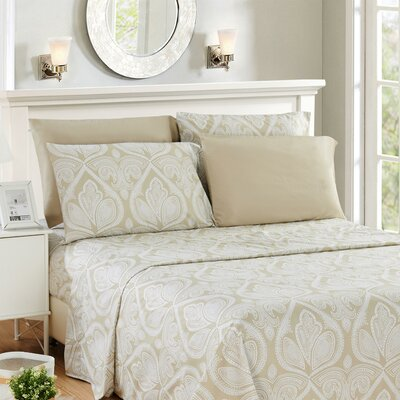 Hawthorn Microfiber 6 Piece Sheet Set Size: Queen, Color: Ivory
