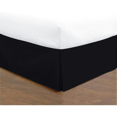Hartsburg Bed Skirt Size: King, Color: Black