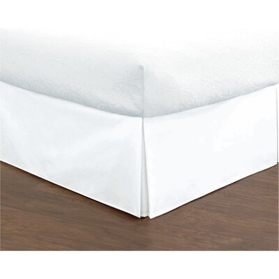 Hartsburg Bed Skirt Size: King, Color: White