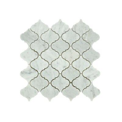 Jasmine Random Sized Marble Mosaic Tile in Gray