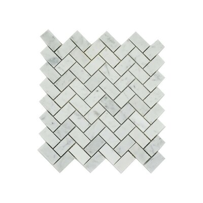 Harlow 1 x 2 Marble Mosaic Tile in Gray