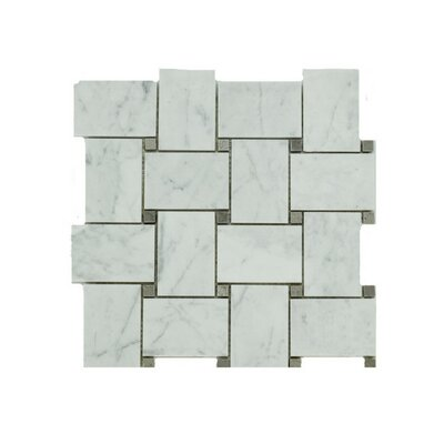 Liam Marble Mosaic Tile in Gray