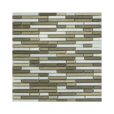 Lola Random Sized Marble Mosaic Tile In Taupe/gray