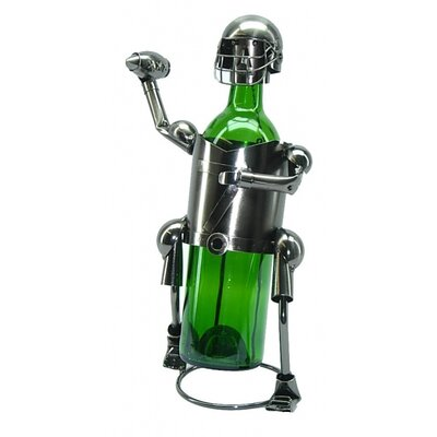 Fraizer Football Player 1 Bottle Tabletop Wine Rack
