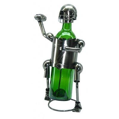 Fraizer Football Player 1 Bottle Tabletop Wine Rack