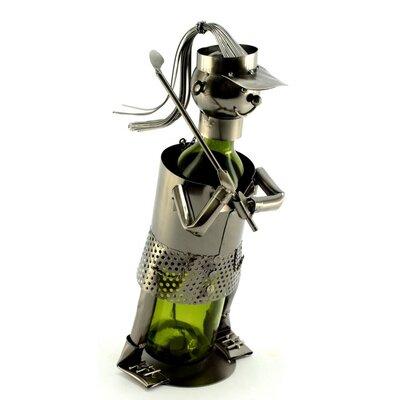 Freeman Lady Golfer 1 Bottle Tabletop Wine Rack