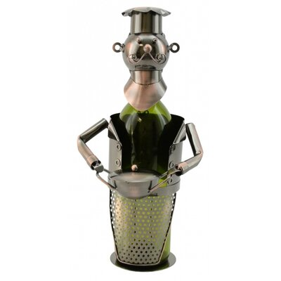 Barney Chef with Pot 1 Bottle Tabletop Wine Rack