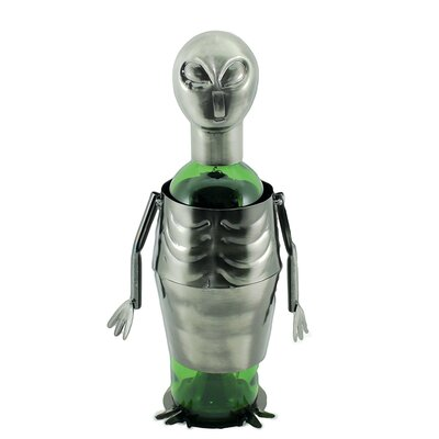 Maude UFO Alien Metal 1 Bottle Tabletop Wine Bottle Rack