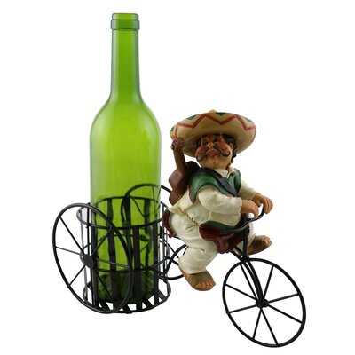 Kareen Joyful Mexican Guitar Player 1 Bottle Tabletop Wine Rack