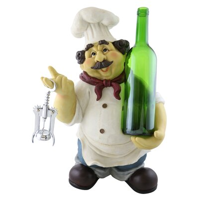 Georgette Large Happy Chef 1 Bottle Tabletop Wine Rack
