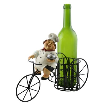Alissa Smiling Female Chef 1 Bottle Tabletop Wine Rack