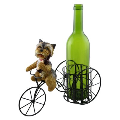 Tiffaney Cute Shih Tzu Dog 1 Bottle Tabletop Wine Rack