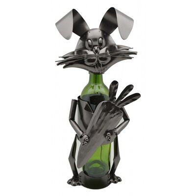 Rabbit with Carrot 1 Bottle Tabletop Wine Rack